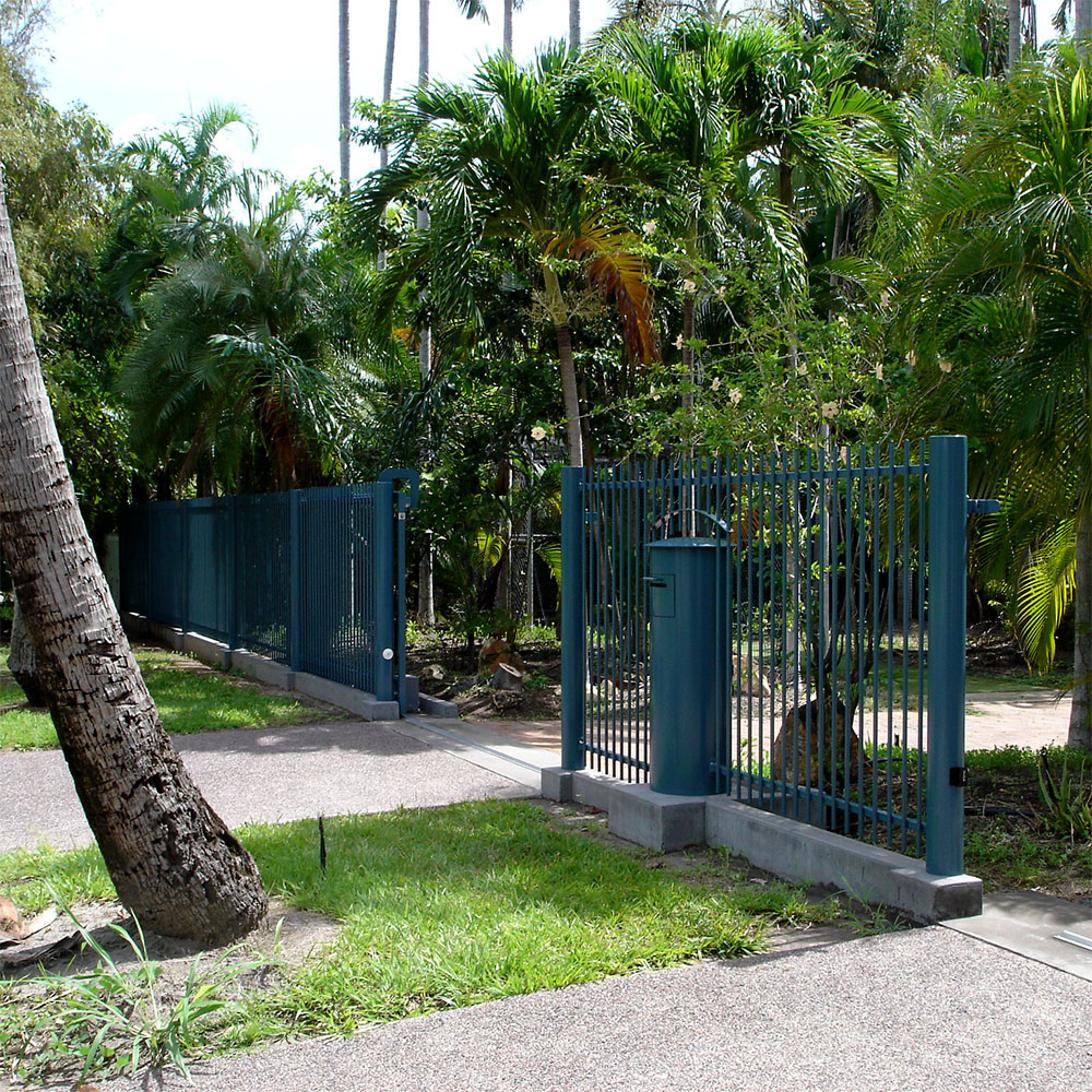 custom fence, gate and letter box